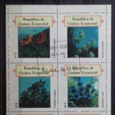 Sellos: HOJA BLOQUE DE GUINEA ECUATORIAL FLORES. Lote 122085726