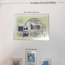 Sellos: COLECCION SELLOS NUEVOS GUINEA ECUATORIAL 1980/2003 EN HOJAS CON FILOESTUCHES BLANCOS. Lote 132647330
