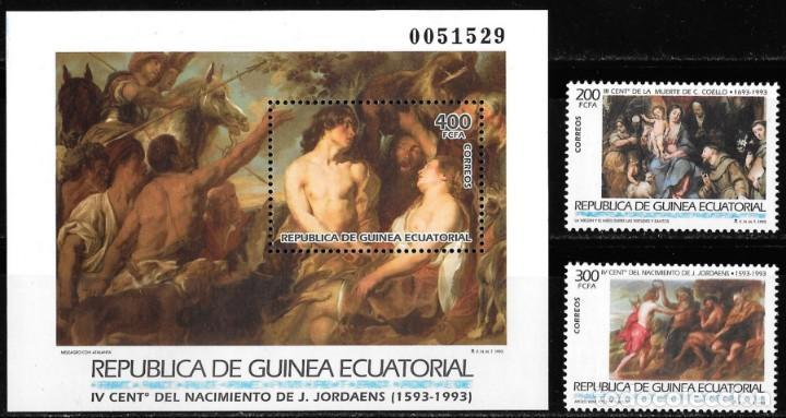 GUINEA ECUATORIAL. GRANDES MAESTROS DE LA PINTURA. 1993. NUEVO (MNH). SERIE COMPLETA (Sellos - Extranjero - África - Guinea Ecuatorial)