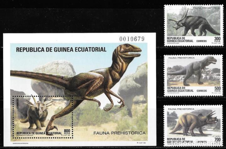 GUINEA ECUATORIAL. FAUNA PREHISTÓRICA 1994. NUEVO (MNH) (Sellos - Extranjero - África - Guinea Ecuatorial)