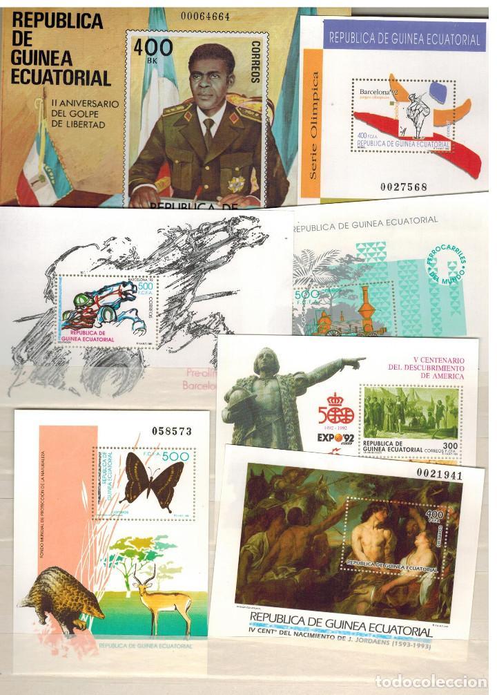 EXTRAORDINARIA SELECCION HOJAS BLOQUE GUINEA ECUATORIAL 1981/2003 (Sellos - Extranjero - África - Guinea Ecuatorial)