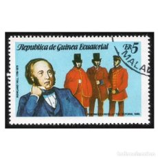 Sellos: GUINEA ECUATORIAL 1979. MI 1454, YT 160-C. SIR ROWLAND HILL. USADO. Lote 142257706