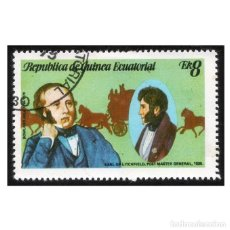 Sellos: GUINEA ECUATORIAL 1979. MI 1455, YT 160-D. SIR ROWLAND HILL. USADO. Lote 142257726