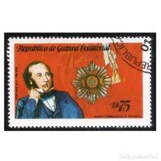 Sellos: GUINEA ECUATORIAL 1979. MI 1458, YT 160-G. SIR ROWLAND HILL. USADO. Lote 142257814