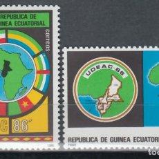 Timbres: GUINEA ECUATORIAL, 1986 EDIFIL Nº 85 / 86 /**/, UNIÓN DE LOS ESTADOS DE ÁFRICA CENTRAL. . Lote 147244830
