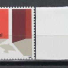 Sellos: GUINEA ECUATORIAL, 1987 EDIFIL Nº 92 / 93 /**/, AÑO INTERNACIONAL DE LA PAZ. Lote 147245330
