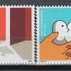 Sellos: GUINEA ECUATORIAL, 1987 EDIFIL Nº 92 / 93 /**/, AÑO INTERNACIONAL DE LA PAZ. Lote 147245354