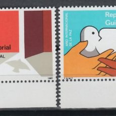 Sellos: GUINEA ECUATORIAL, 1987 EDIFIL Nº 92 / 93 /**/, AÑO INTERNACIONAL DE LA PAZ. Lote 147245370