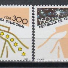 Sellos: GUINEA ECUATORIAL, 1987 EDIFIL Nº 94 / 95 /**/, DÍA MUNDIAL DEL SELLO. . Lote 147245510