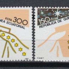 Sellos: GUINEA ECUATORIAL, 1987 EDIFIL Nº 94 / 95 /**/, DÍA MUNDIAL DEL SELLO. . Lote 147245530
