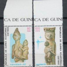 Sellos: GUINEA ECUATORIAL, 1987 EDIFIL Nº 96 / 97 /**/, DÍA MUNDIAL DEL SELLO. . Lote 147245618