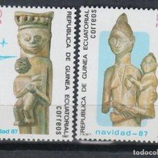 Sellos: GUINEA ECUATORIAL, 1987 EDIFIL Nº 96 / 97 /**/, DÍA MUNDIAL DEL SELLO. . Lote 147245666