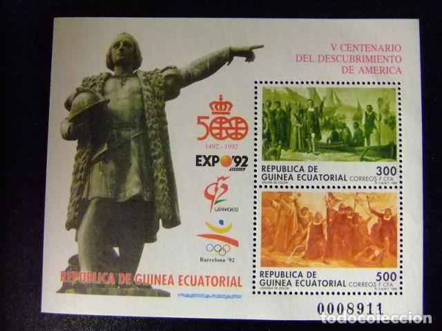 GUINEA ECUATORIAL 1992 CENTENARIO DEL DESCUBRIMIENTO DE AMERICA EDIFIL 152 ** MNH (Sellos - Extranjero - África - Guinea Ecuatorial)