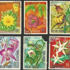 Sellos: GUINEA ECUATORIAL 1974 - LOTE FLORES - 6 SELLOS USADOS. Lote 163992314