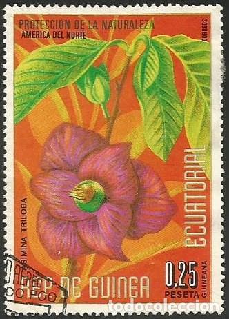 Sellos: GUINEA ECUATORIAL 1974 - LOTE FLORES - 6 SELLOS USADOS - Foto 3 - 163992314