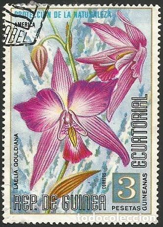 Sellos: GUINEA ECUATORIAL 1974 - LOTE FLORES - 6 SELLOS USADOS - Foto 5 - 163992314