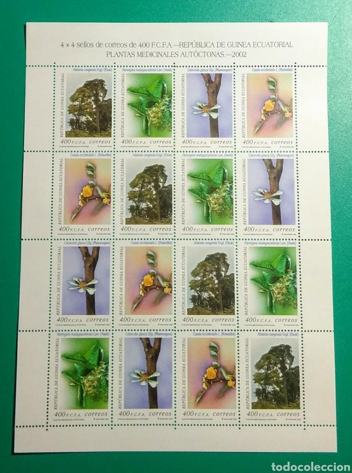 GUINEA ECUATORIAL. 2003. HOJA 4 SERIES. PLANTAS MEDICINALES. (Sellos - Extranjero - África - Guinea Ecuatorial)