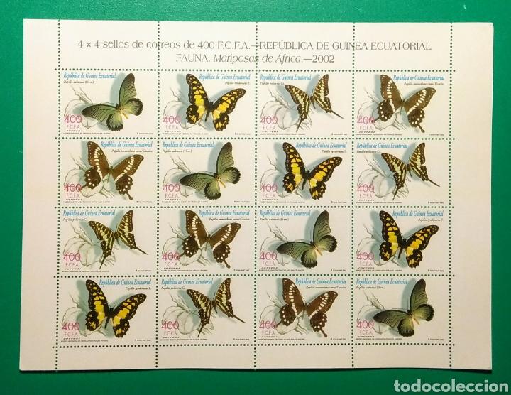 GUINEA ECUATORIAL. HOJA 4 SERIES. MARIPOSAS. 2003 (Sellos - Extranjero - África - Guinea Ecuatorial)