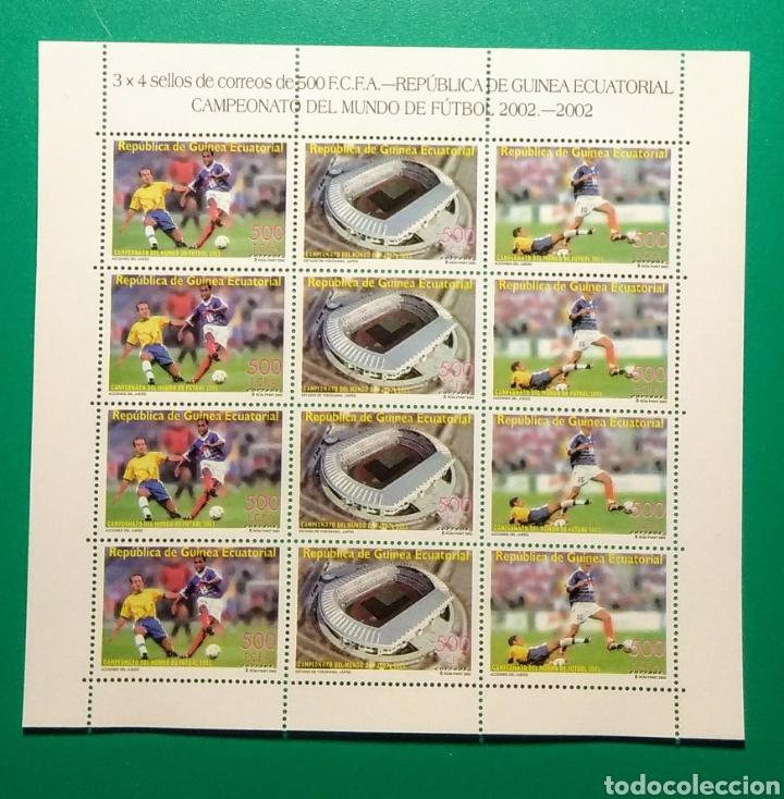 GUINEA ECUATORIAL 2003. HOJA 4 SERIES. COPA MUNDO FÚTBOL 2002. (Sellos - Extranjero - África - Guinea Ecuatorial)