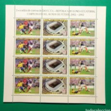 Sellos: GUINEA ECUATORIAL 2003. HOJA 4 SERIES. COPA MUNDO FÚTBOL 2002.. Lote 165791941
