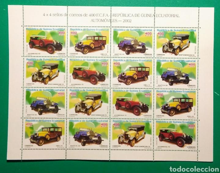 GUINEA ECUATORIAL 2003. HOJA 4 SERIES AUTOMÓVILES. (Sellos - Extranjero - África - Guinea Ecuatorial)