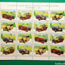 Sellos: GUINEA ECUATORIAL 2003. HOJA 4 SERIES AUTOMÓVILES.. Lote 165793616
