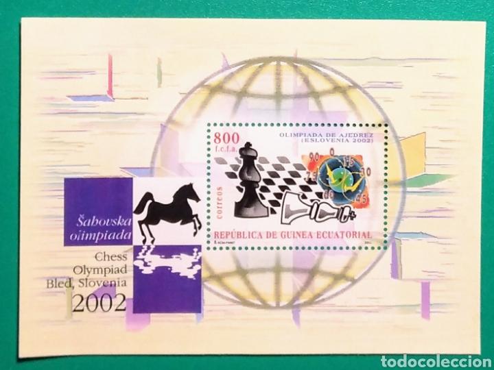 GUINEA ECUATORIAL 2003. HOJITA OLIMPIADA AJEDREZ 2002 (Sellos - Extranjero - África - Guinea Ecuatorial)