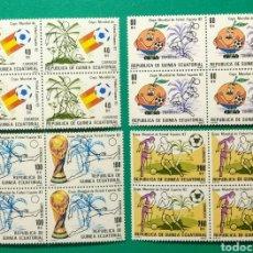 Sellos: 1982. BLOQUE DE 4. GUINEA ECUAT. ED. 35/38**.. Lote 167069092