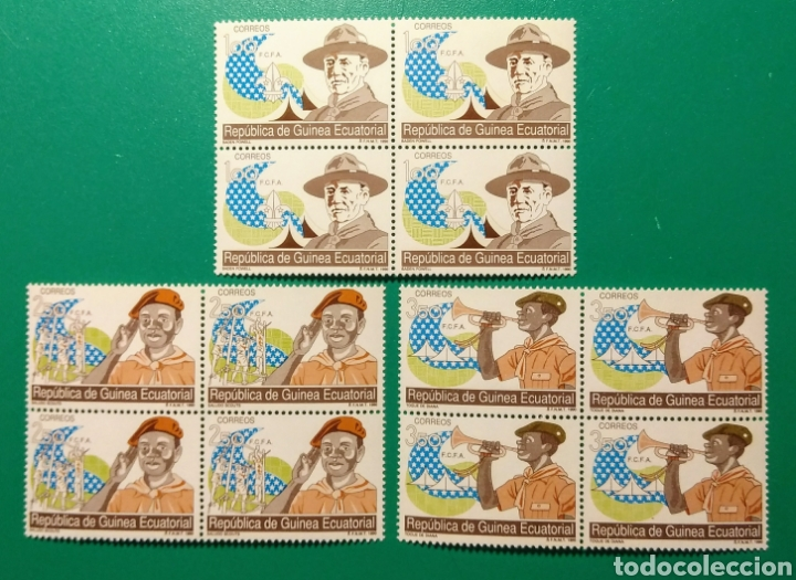 1990. BLOQUE DE 4. GUINEA ECUAT. ED. 120/122**. (Sellos - Extranjero - África - Guinea Ecuatorial)