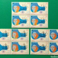 Sellos: 1991. BLOQUE DE 4. GUINEA ECUAT. ED. 143/145**.. Lote 167123518