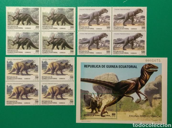 1994. BLOQUE DE 4 + 4 HOJITAS. GUINEA E. ED. 182/185**. (Sellos - Extranjero - África - Guinea Ecuatorial)