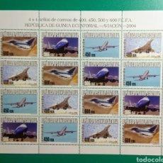 Sellos: GUINEA ECUATORIAL 2004. MINIPLIEGO. ED. 345/348**.. Lote 171068398