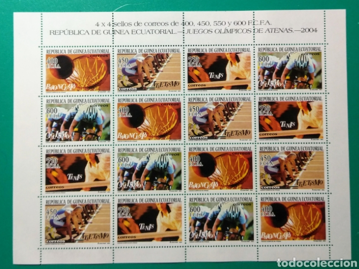 GUINEA ECUATORIAL 2004. MINIPLIEGO. ATENAS. ED. 337/340**. (Sellos - Extranjero - África - Guinea Ecuatorial)