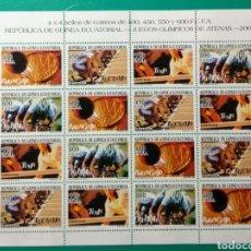 Sellos: GUINEA ECUATORIAL 2004. MINIPLIEGO. ATENAS. ED. 337/340**.. Lote 171199843