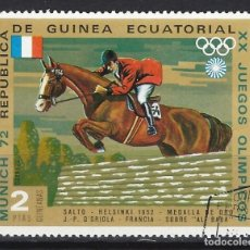 Timbres: GUINEA ECUATORIAL 1972 - JJOO DE MUNICH, - SELLO USADO. Lote 172229188
