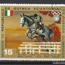 Timbres: GUINEA ECUATORIAL 1972 - JJOO DE MUNICH, - SELLO USADO. Lote 172229218