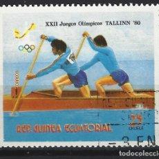Timbres: GUINEA ECUATORIAL 1980 - JJOO DE MOSCÚ, - SELLO USADO. Lote 172230210