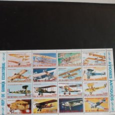 Sellos: GUINEA ECUATORIAL REP.AVIONES SERIE HOJAS BLOQUE. Lote 172331648