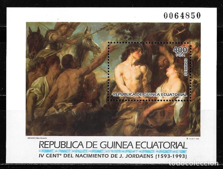 GUINEA ECUATORIAL. HB GRANDES MAESTROS DE LA PINTURA. 1993. NUEVO (MNH) (Sellos - Extranjero - África - Guinea Ecuatorial)