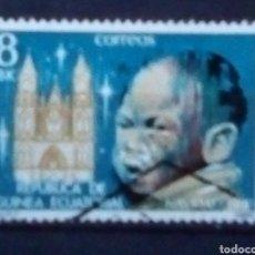 Sellos: GUINEA ECUATORIAL NAVIDAD SELLO USADO. Lote 178662770