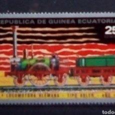 Sellos: GUINEA ECUATORIAL PRIMER TREN DE ALEMANIA SELLO NUEVO. Lote 179149638