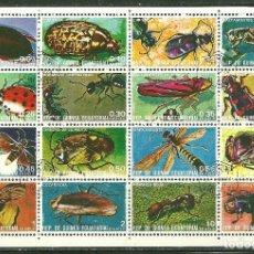 Timbres: GUINEA ECUATORIAL 1978 IVERT 115 Y AEREO 99 - FAUNA - INSECTOS. Lote 181390511