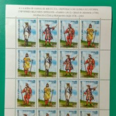Sellos: 2002. GUINEA ECUATORIAL. MINIPLIEGO. ED. 288/291**. Lote 182331010