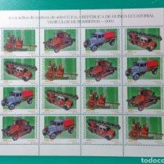 Sellos: 2001. GUINEA ECUATORIAL. 4 SERIES. ED. 280/283**.. Lote 182332555