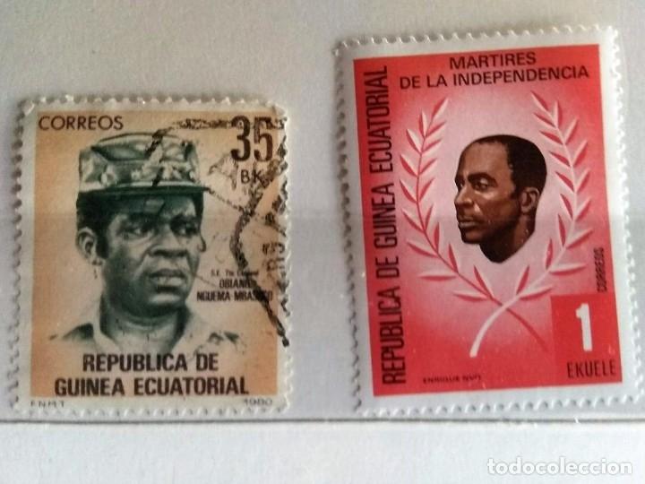 GUINEA ECUATORIAL, 2 SELLOS USADOS DIFERENTES (Sellos - Extranjero - África - Guinea Ecuatorial)