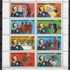 Sellos: GUINEA ECUATORIAL 167** - AÑO 1980 - ROWLAND HILL - EXPOSICION FILATELICA INTERNACIONAL LONDON 1980. Lote 191306280