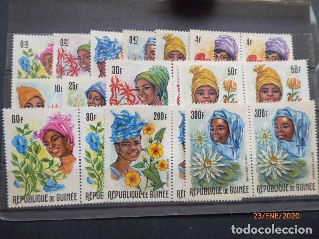 SERIE DE GUINEA, REPUBLICA.EN PAREJAS 13 VALORES, SIN CHARNELA (Sellos - Extranjero - África - Guinea Ecuatorial)