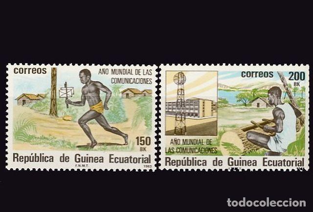 G. ECUATORIAL. 45/46 AÑO MUNDIAL DE LAS COMUNICACIONES (Sellos - Extranjero - África - Guinea Ecuatorial)