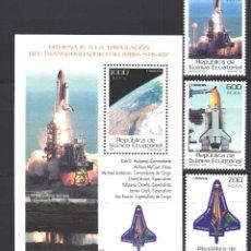 Sellos: GUINEA ECUATORIAL, 2004 EDIFIL Nº 333 / 336 /**/, TRANSBORDADOR COLUMBIA . Lote 195151906