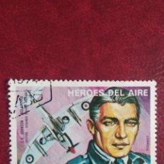 Sellos: SELLO GUINEA ECUATORIAL HÉROES DEL AIRE J.E. JOHNSON WW2. Lote 195267596